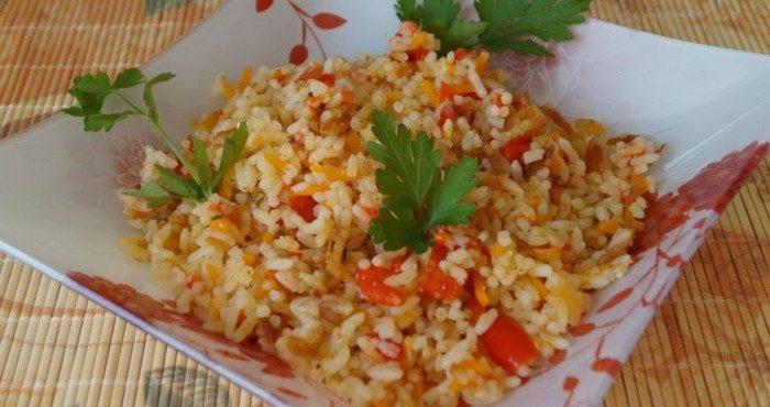 Рецепты рассыпчатого риса с овощами в мультиварке