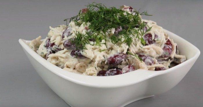 Рецепты вкусных салатов с фасолью и курицей