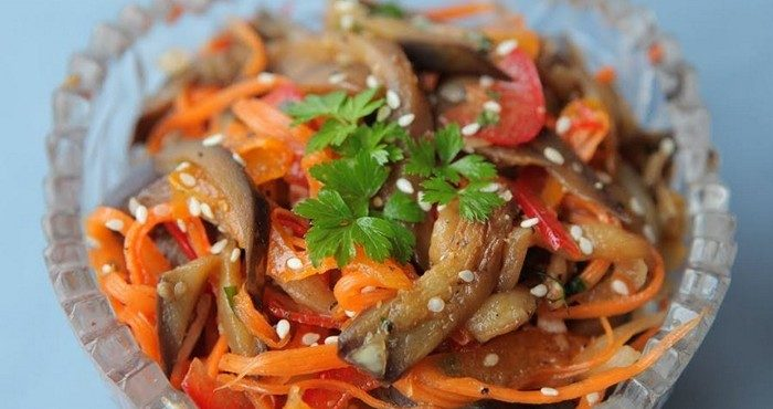 Рецепты вкусных салатов из баклажанов на каждый день