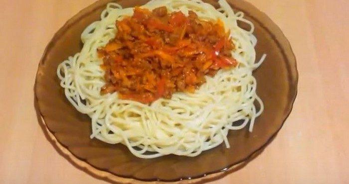 Спагетти с фаршем: как вкусно приготовить