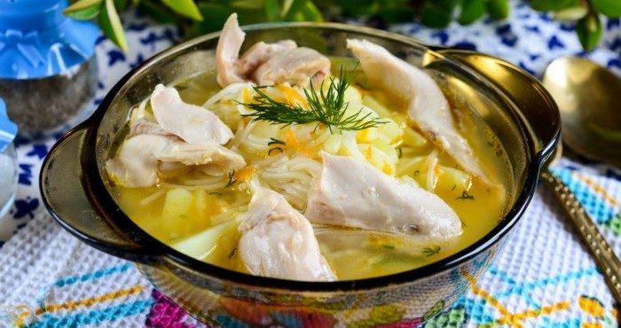 Как приготовить домашний куриный суп с вермишелью