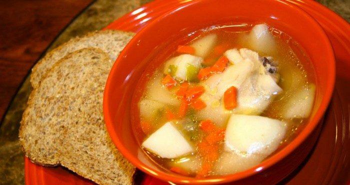 Как сварить вкусный питательный суп на курином бульоне