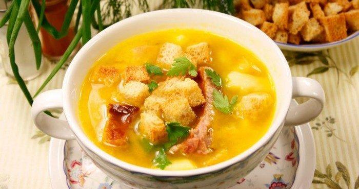 какой сварить суп на свином бульоне быстро и вкусно