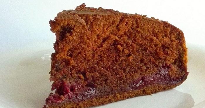 Шоколадный торт с вишней простой «Студенческий»