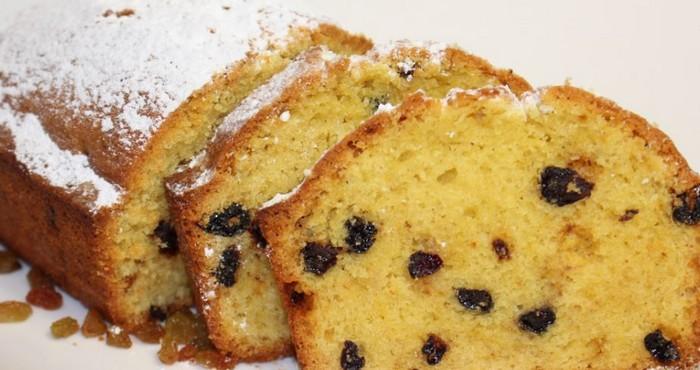 Кекс с изюмом – классический рецепт