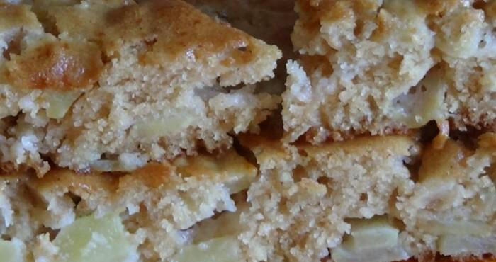 Пирог без яиц с яблоками в духовке