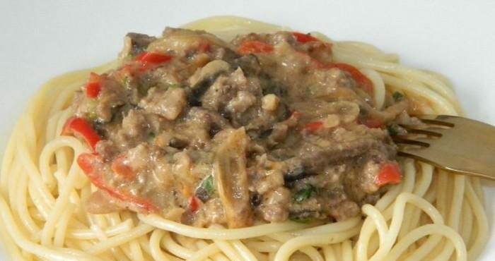 Соус для спагетти с мясным фаршем