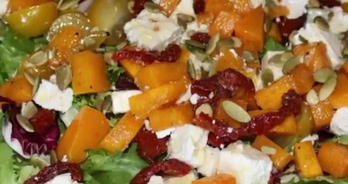 Итальянский салат с тыквой