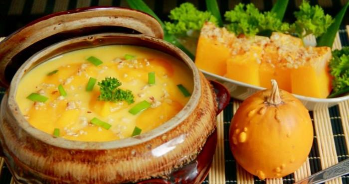 Тыквенный суп пюре с картофелем