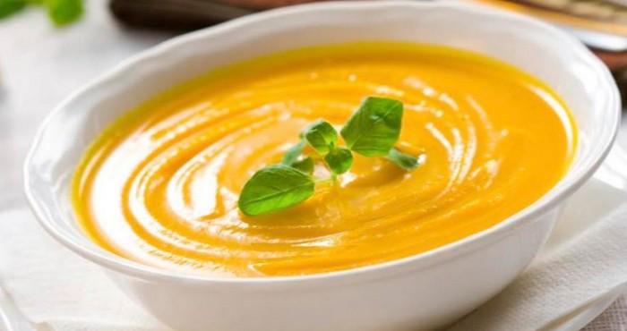 Тыквенный суп пюре с плавленым сыром