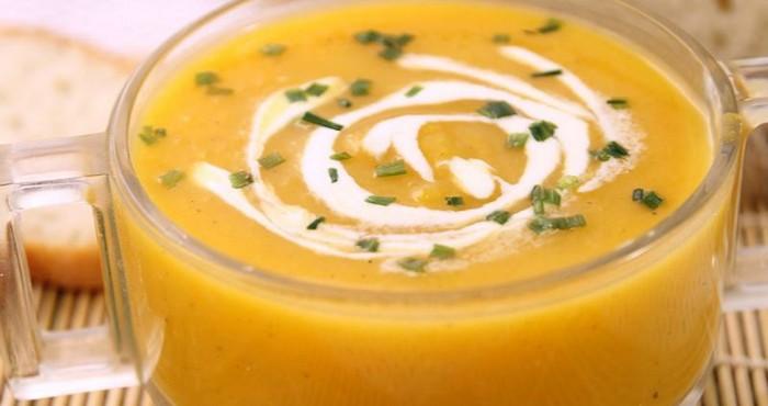 Тыквенный суп пюре с яблоками
