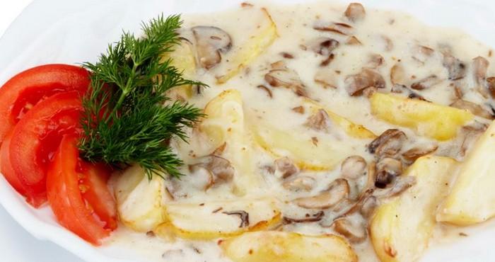 Грибной соус бешамель для лазаньи
