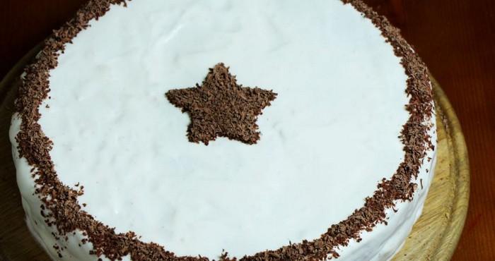 Бисквитный торт для мужчины на день рождения с коньяком