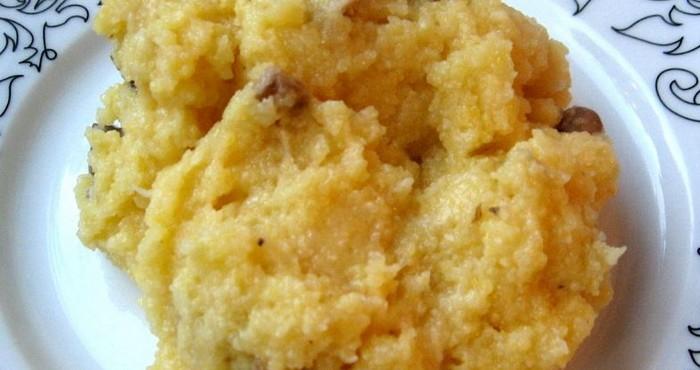 Тыквенно-кукурузная каша со сливками в мультиварке