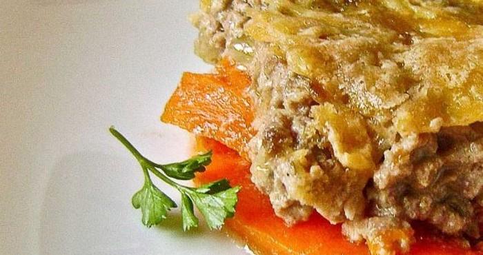 Каша из тыквы с мясом в мультиварке