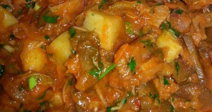Вкусное азу по-татарски с картофелем и кинзой