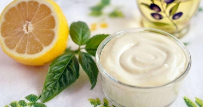 Домашний майонез лимонный