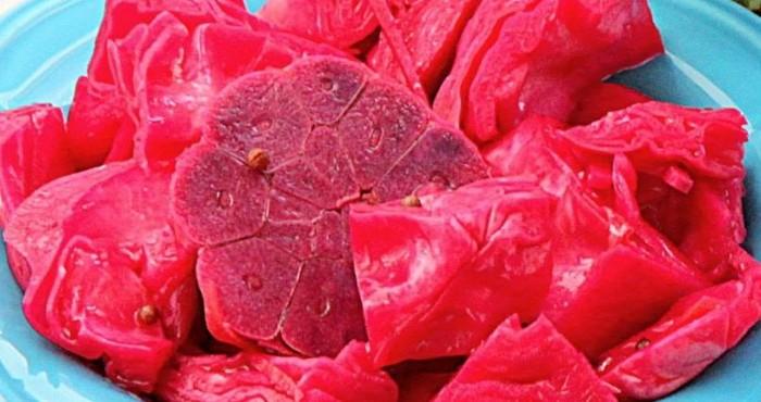 Капуста квашеная быстрого приготовления: рецепт со свёклой и чесноком в заливке с уксусом