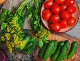 свежие овощи для заготовок