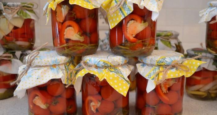 закладка с перцами в желе