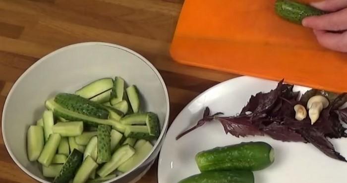 нарезка овощей брусками