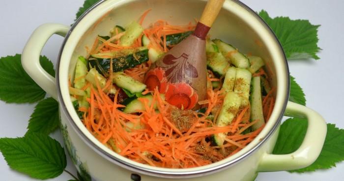 яркое блюдо с морковью
