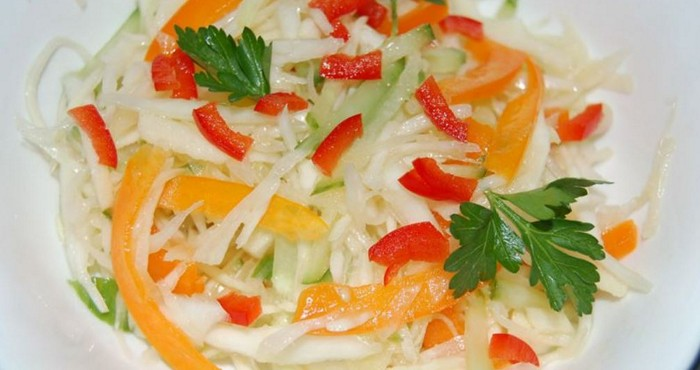 салат из болгарского перца с капустой на зиму