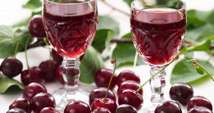 домашний напиток из вишни