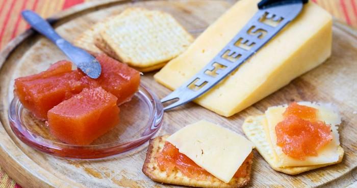 ароматный мармелад с сыром и печеньем