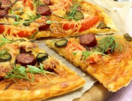 сытная пицца из слойки