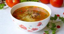 сытный суп с мясом