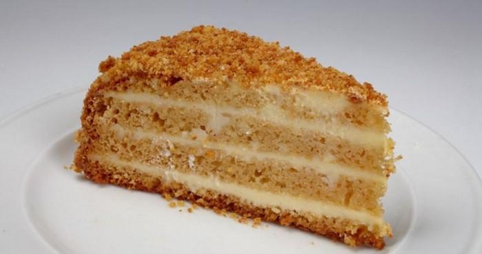 нежный бисквитный торт медовик