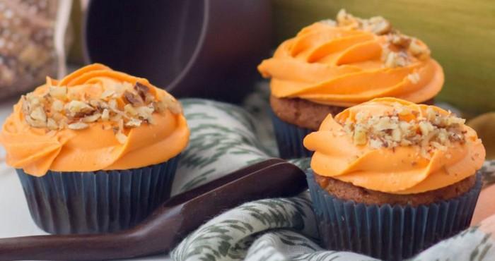 кексы из тыквы с морковным кремом