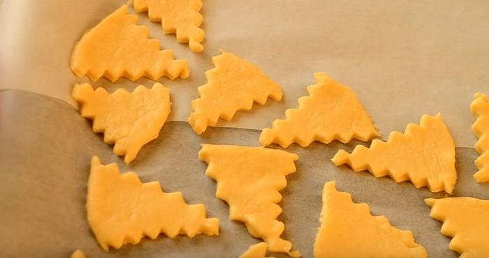 нарезка теста для печенья