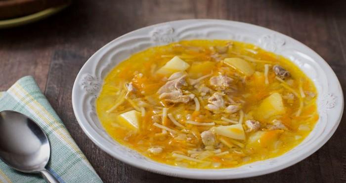 суп куриный с картошкой