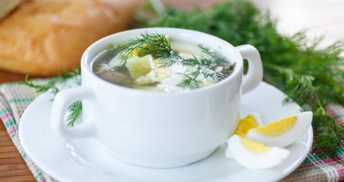 легкий сырный суп с зеленью