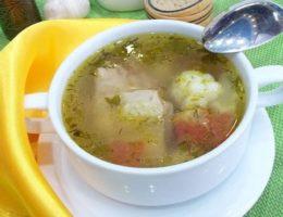 суп на прозрачном бульоне