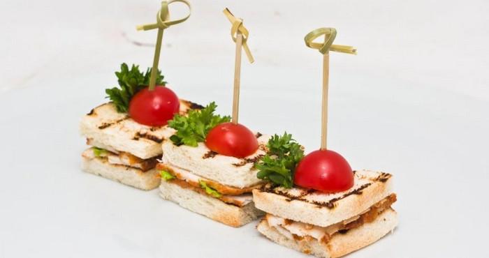 бутерброд на новый год с курицей