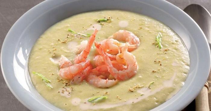 нежный суп с морепродуктами