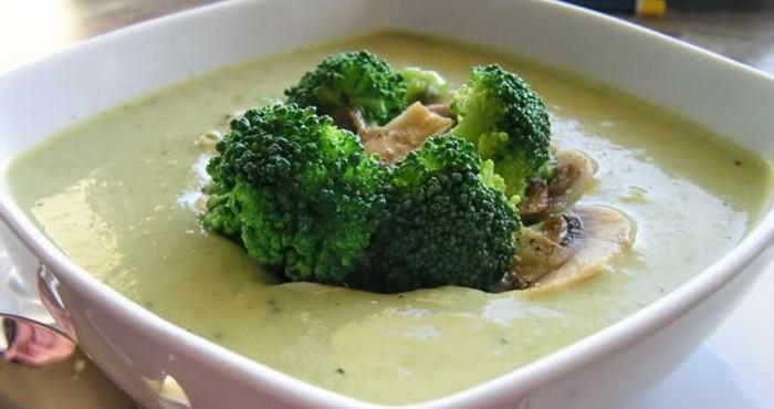 грибной крем-суп с овощами