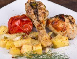 голени куриные с картофелем
