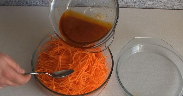 заливка моркови маринадом