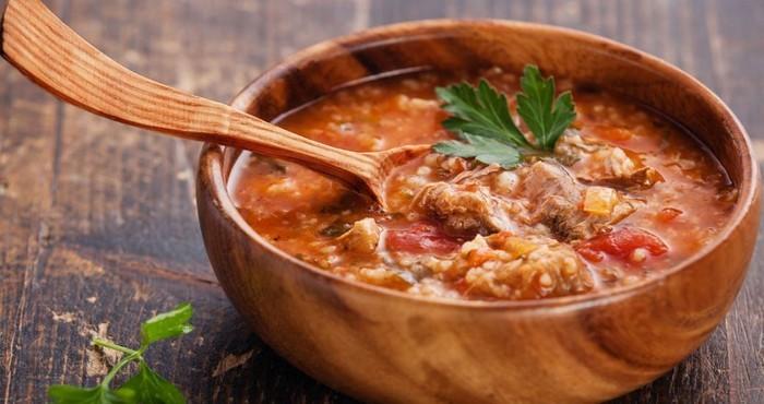 грузинский суп с ткемали