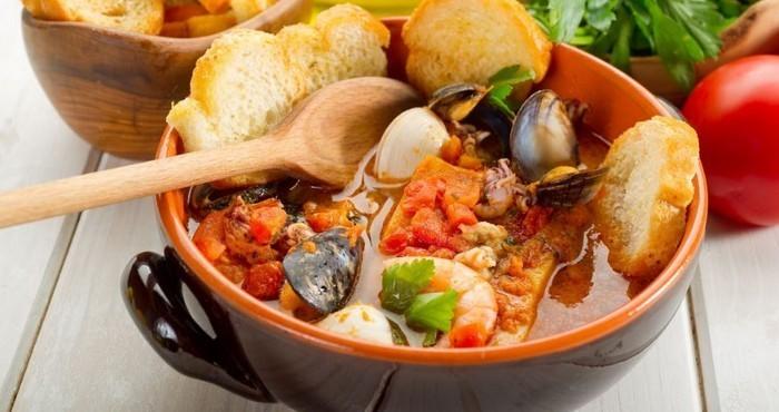 средиземноморский суп с томатами