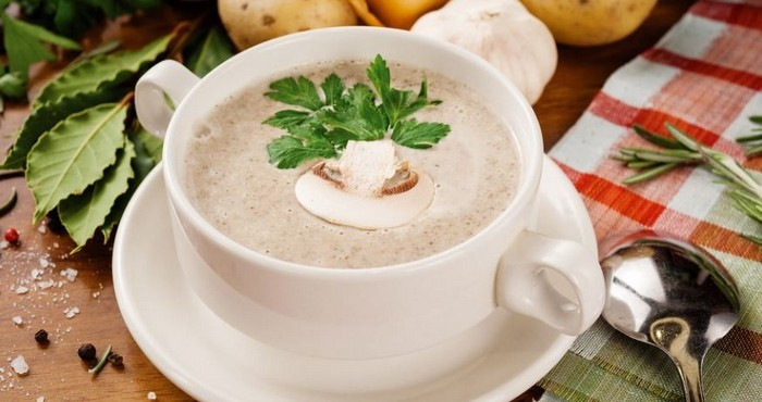 сырный крем-суп с ароматными грибами