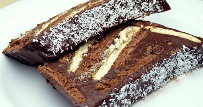 торт из печенья с кофе и шоколадом