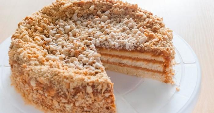вафельный торт из домашних коржей