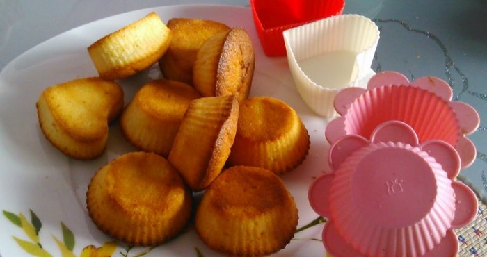 маленькие кексы с творогом к чаю