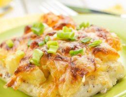 запеченное мясо в духовке с сыром