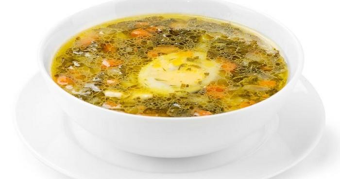 куриный щавелевый суп с овощами